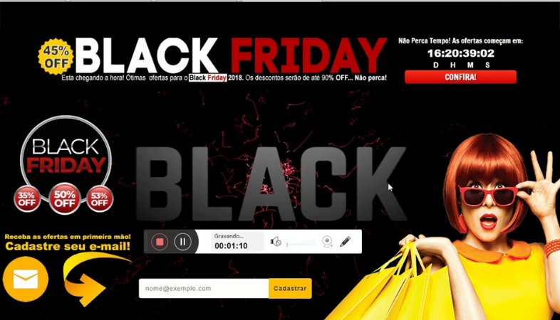 Diseñar landing page para Black Friday