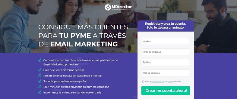 MDirector: herramientas de email para pymes