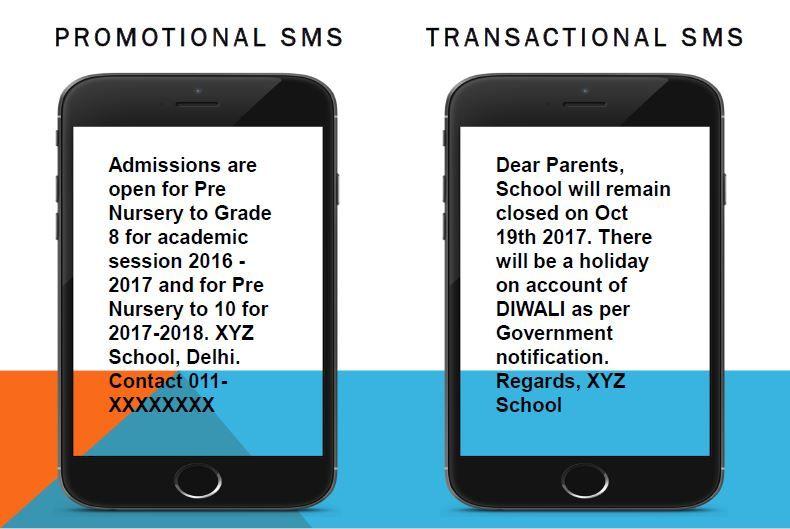 SMS per istituti scolastici esempio
