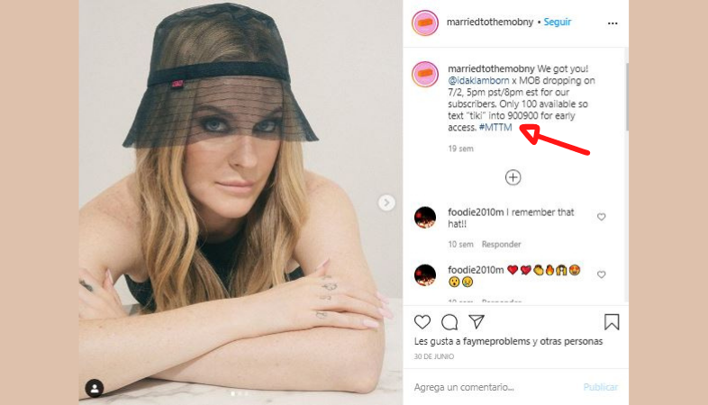 Influencer marketing y mensaje de texto