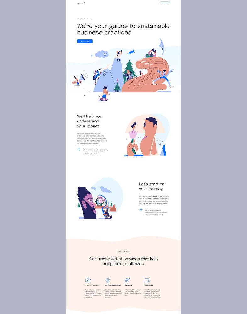 Página con diseño minimalista moderno