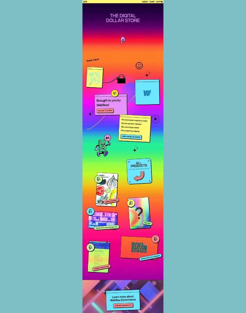 Página de destino con colores degradados