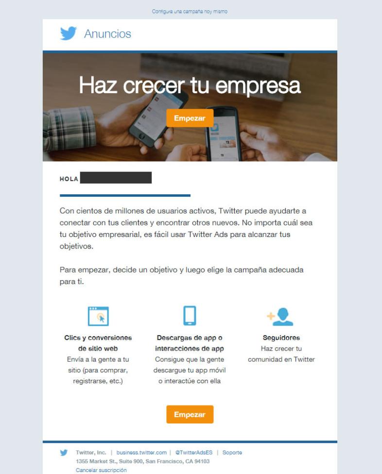 Envío de newsletter para los beneficios de la fidelización de suscriptores