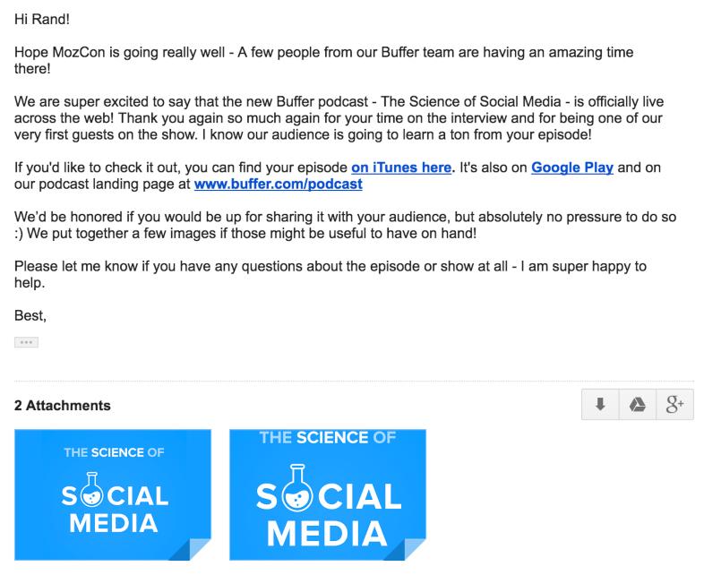 Metti in relazione il contenuto che le tue e-mail avranno con i tuoi podcast