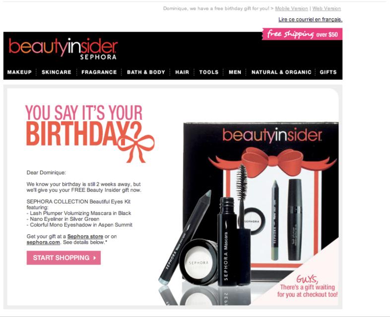 Cumpleaños Sephora