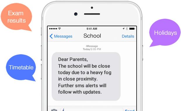 SMS per istituti scolastic esempio