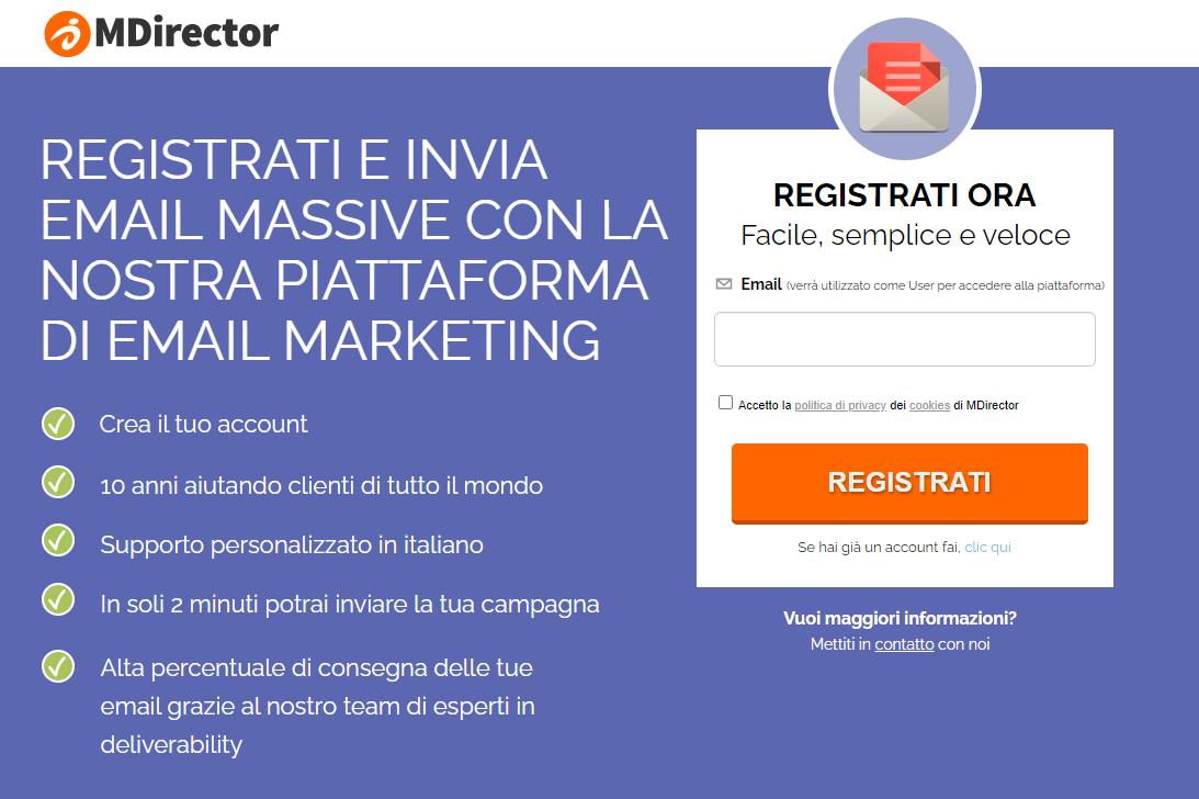 piattaforma di email marketing professionale