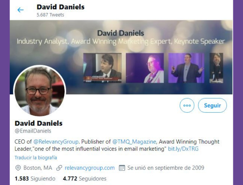 Twitter de David Daniels