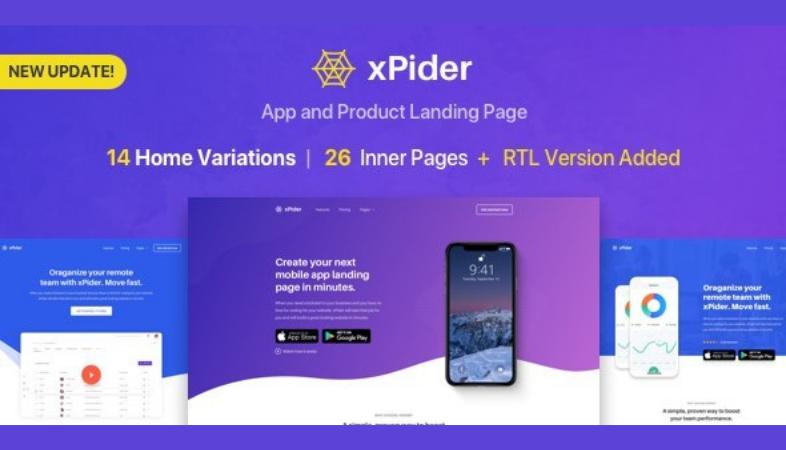 landing page per app