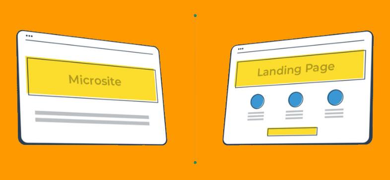 Principali differenze tra un microsito e una landing page