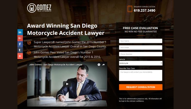 Chiavi per creare una landing page per gli avvocati
