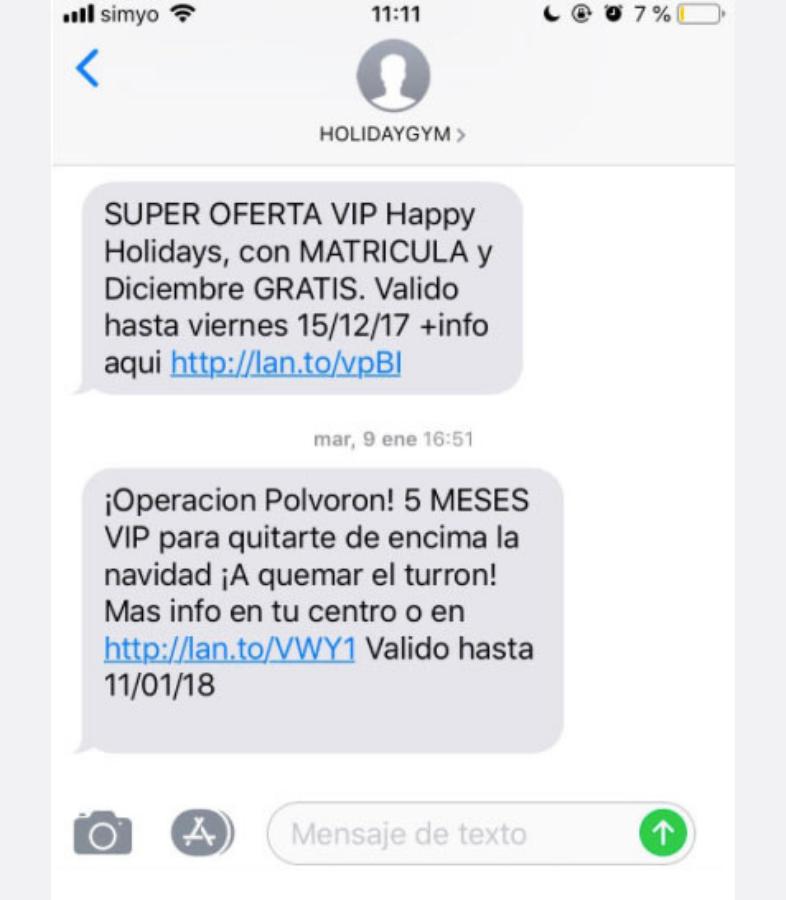 Mensajes de texto sin tildes