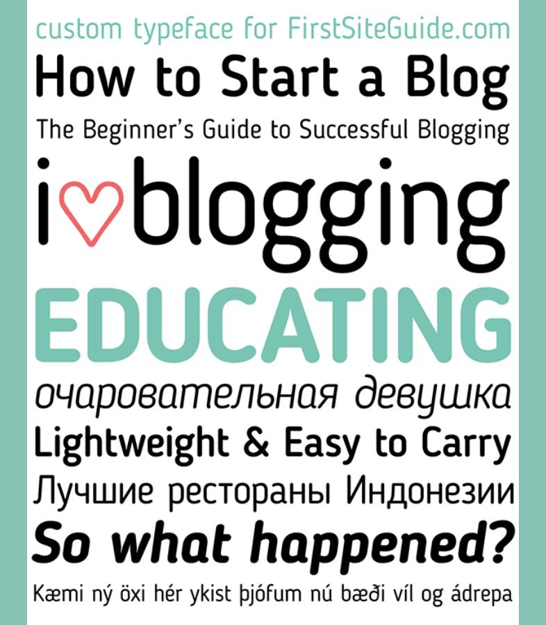 Blogger Sans nuevas tipografías