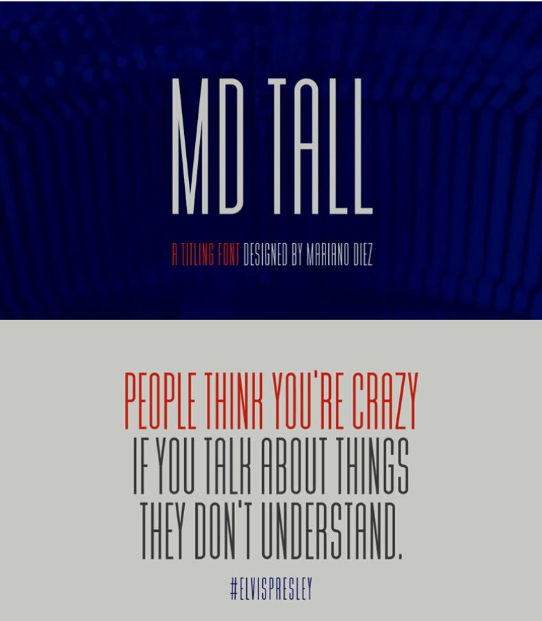 Tipografía MD Tall