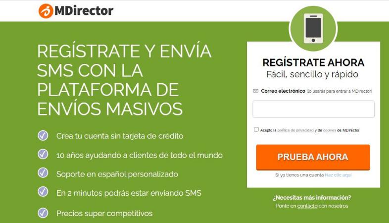 Plataforma de SMS Marketing de MDirector