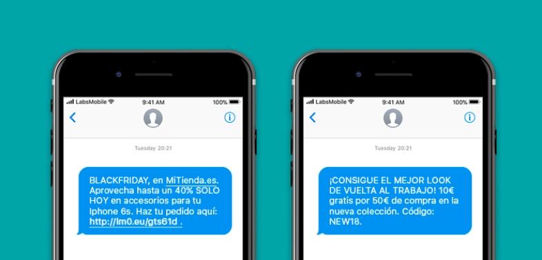 Tasa de apertura en los SMS