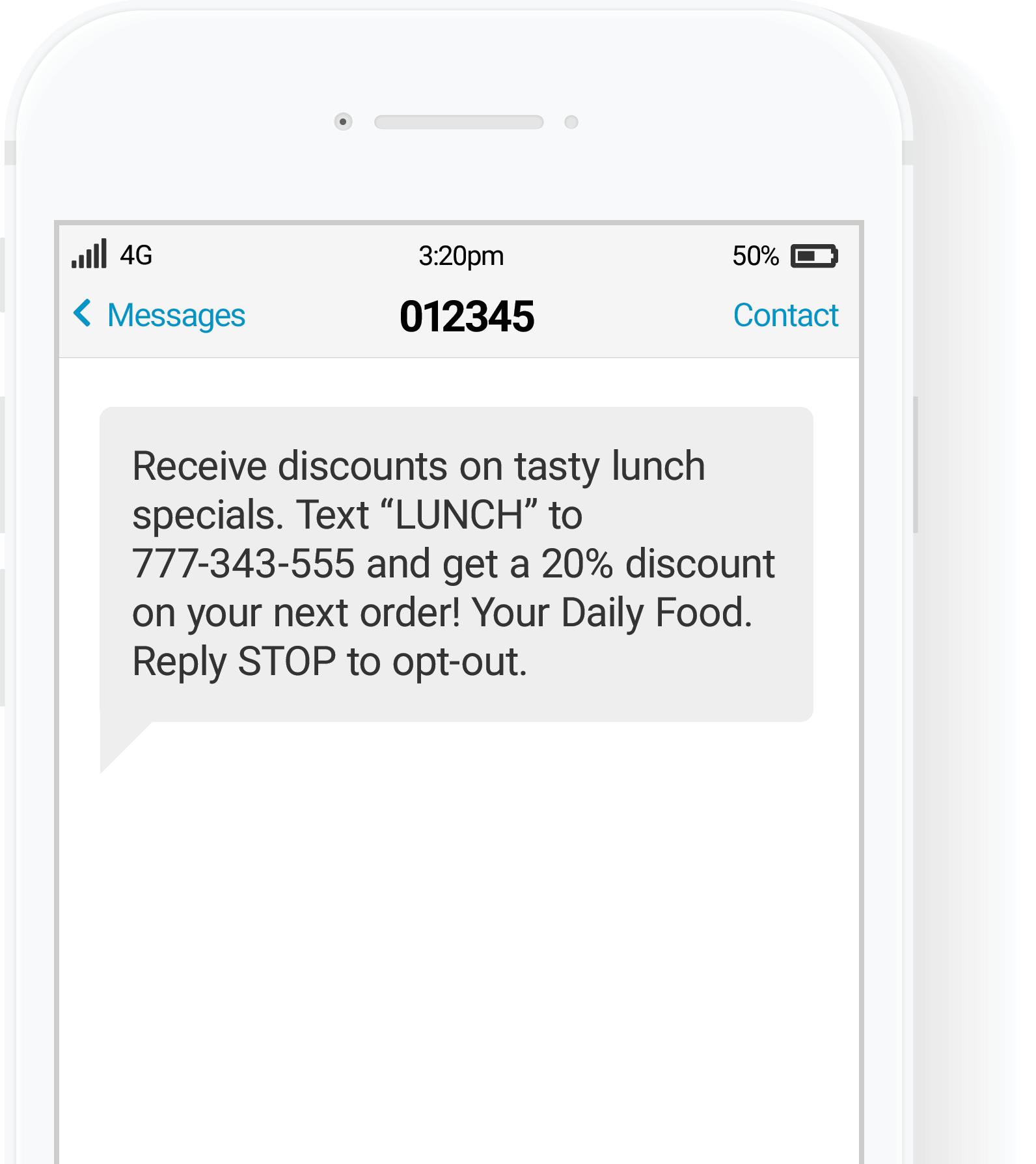SMS per le vendite a domicilio