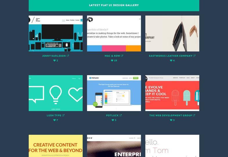 Aprovechar el diseño flat en páginas web