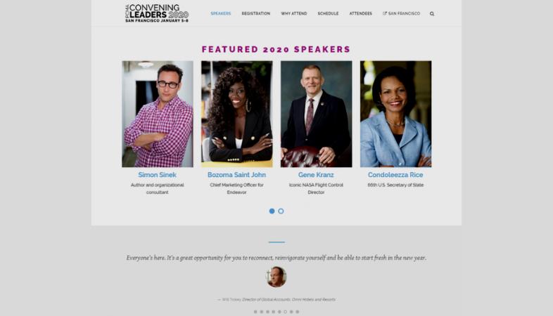 landing page para eventos