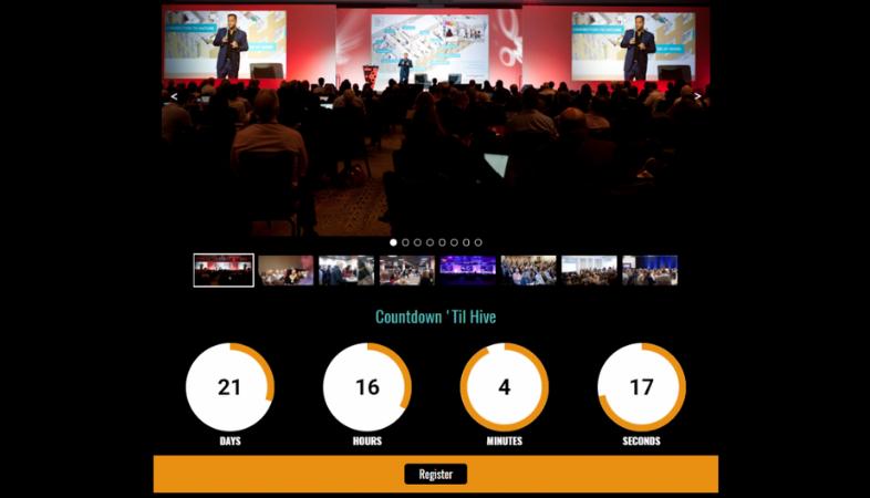 Página de destino de conferencia
