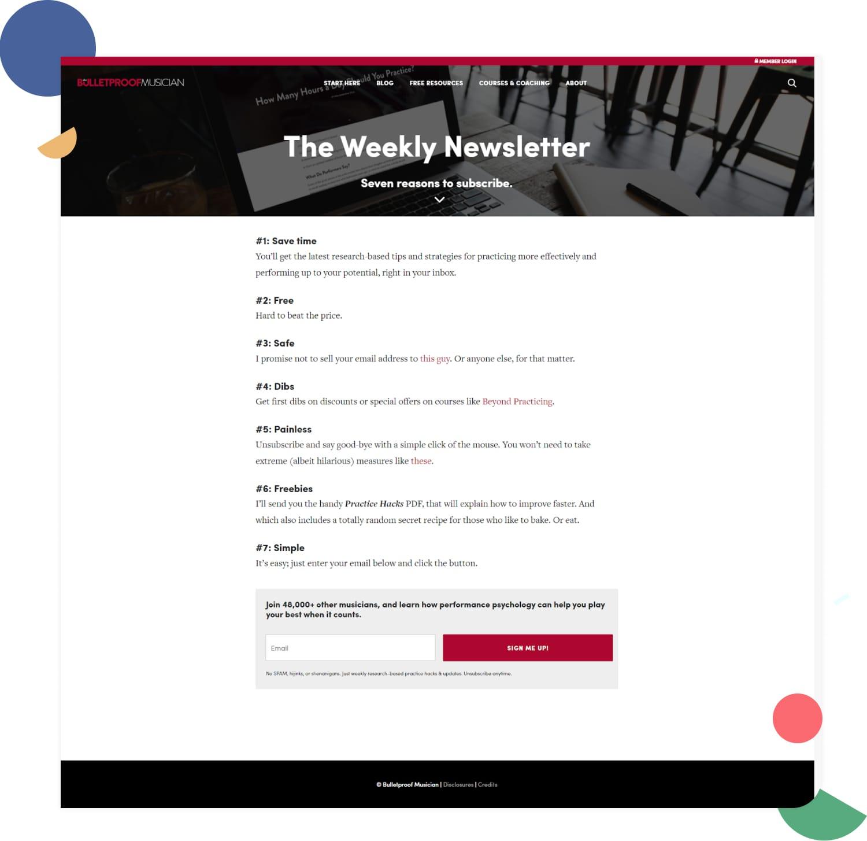 Crea newsletter con contenuti sponsorizzati