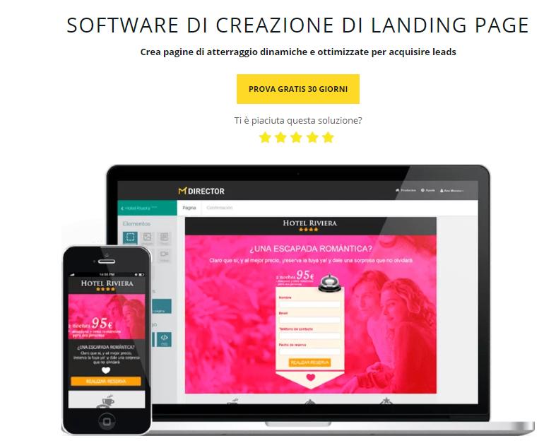 software di creacione di landing page