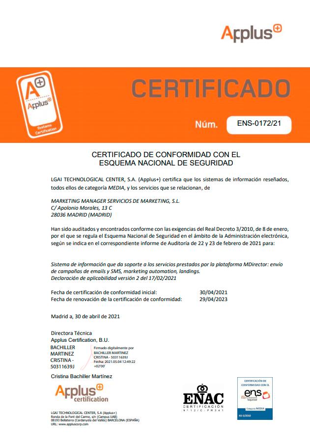 certificazione mdirector ens