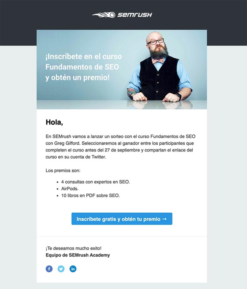 Generar buen contenido de email