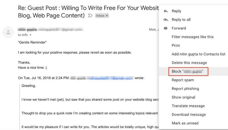 Exceso de personalización en el email