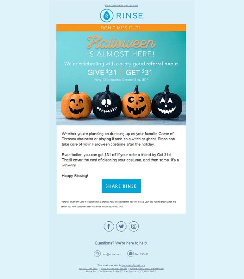 Email de reactivación de clientes