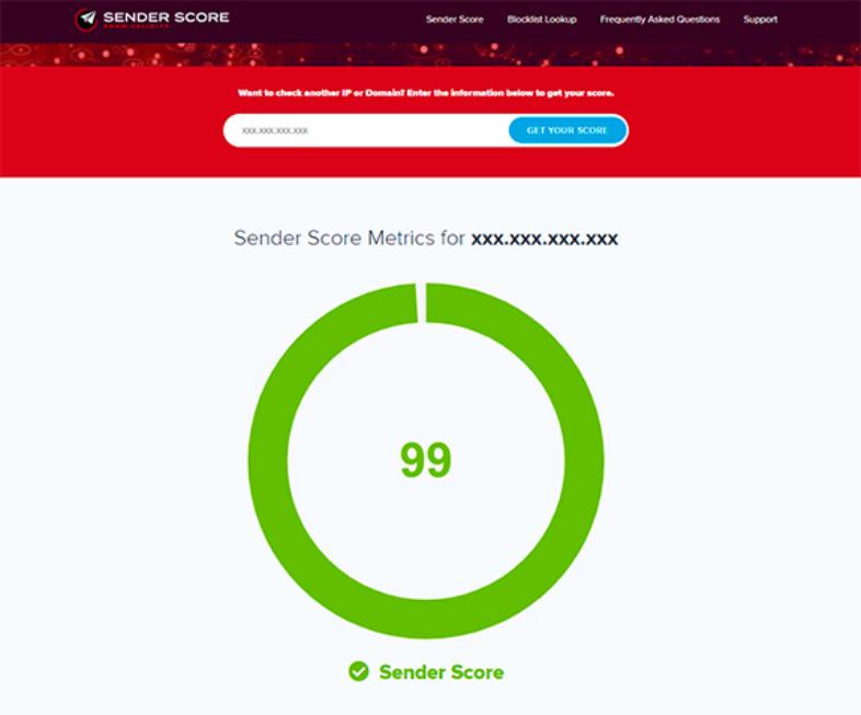 Cononcer el Sender Score
