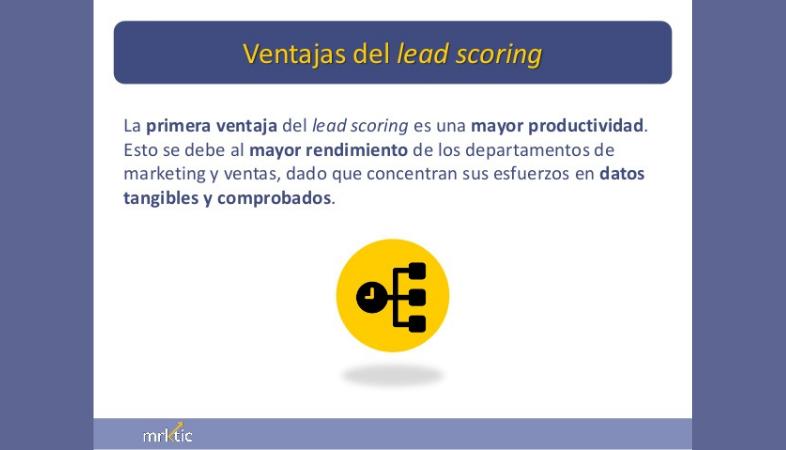 Ventajas del Lead Scoring en marketing automation